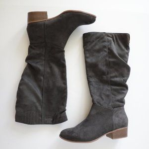 Candies Gray Faux Suede Boots  Size 8.5 NEW